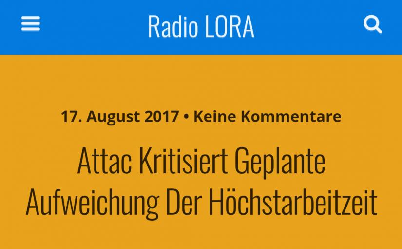 """Radio-Gespräch: Kritik an Ministerin Nahles und """"Experimentierräumen"""" für die Aufbrechung des Acht-Stunden-Tages!"""