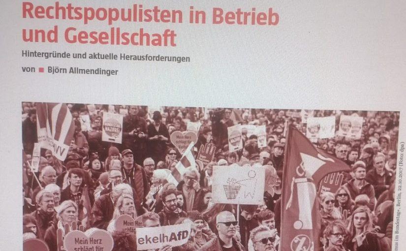 Rechtspopulisten in Betrieb und Gesellschaft – Hintergründe und aktuelle Herausforderungen