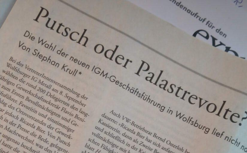 IG Metall Wolfsburg: Putsch oder Palastrevolte?